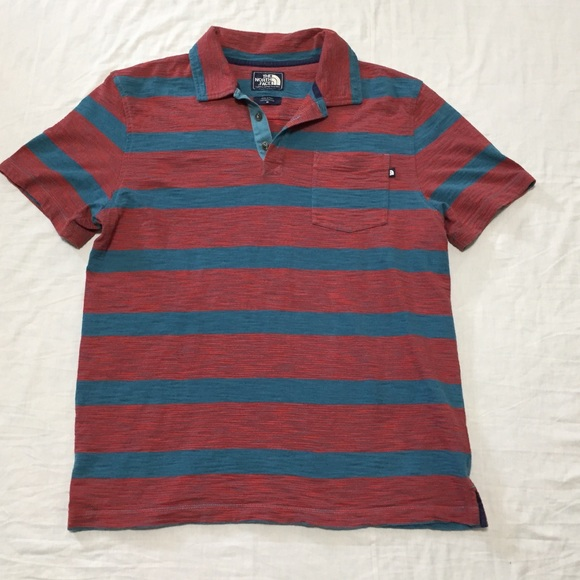 6f367a770 The North Face Men's Red and Green Polo Shirt